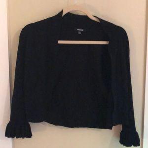 Premier Designs Sweaters - Black cardigan.  Ruffle sleeves.